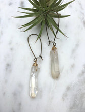 Load image into Gallery viewer, Quartz Crystal Drop Earring