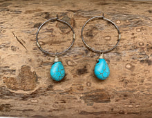 Load image into Gallery viewer, Boho Stone Hoop Earring