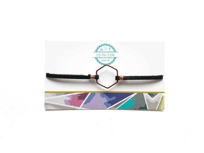 Hexagon Suede Bracelet