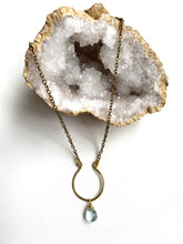 Load image into Gallery viewer, Short Hammered Horseshoe Necklace