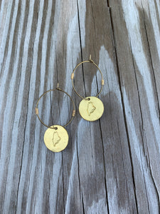 Hammered State Earrings