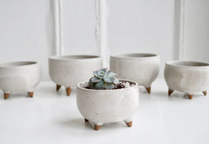 Tiny Footed Ceramic Planter