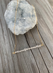 Crystal Bar Necklace