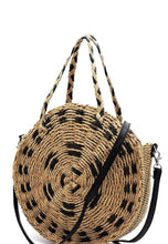 Load image into Gallery viewer, Large Boho Straw Bag