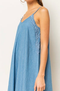 Denim and Lace Swing Dress
