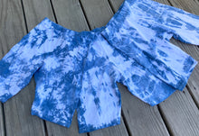 Load image into Gallery viewer, Shibori Indigo Tie Dye Biker Short