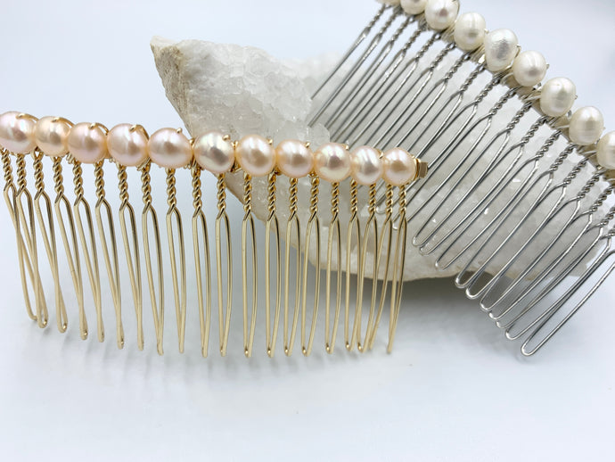 Fresh Water Pearl Hair Comb