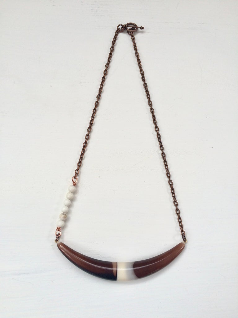 Acrylic Bone and Howlite Necklace