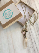 Load image into Gallery viewer, Quartz Crystal Cluster Necklace