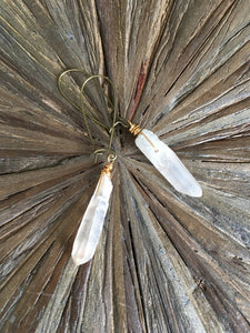 Quartz Crystal Drop Earring