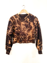 Load image into Gallery viewer, Acid Washed Cropped Sweatshirt