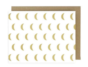 Gold Crescent Moons Greeting Card