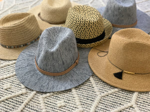 Neutral Fedora with Trim
