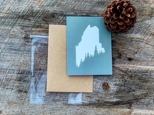 Maine Pines Greeting Card