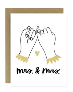 Mr & Mrs. Greeting Card