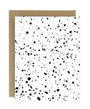 Load image into Gallery viewer, Black Paint Splatter Greeting Card