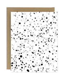 Black Paint Splatter Greeting Card