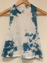 Load image into Gallery viewer, Shibori Indigo Dyed Racerback Cropped Tank