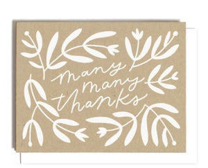 Many Many Thanks Greeting Card