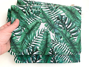 Zip Top Palm Clutch bag