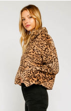 Load image into Gallery viewer, Faux Leopard Crop Outerwear Jacket