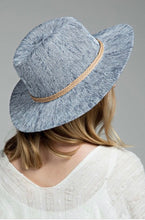 Load image into Gallery viewer, Grey-Blue Panama Hat