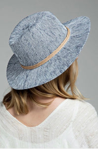 Grey-Blue Panama Hat