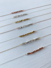 Load image into Gallery viewer, Mixed Metal Layering Bar Necklace