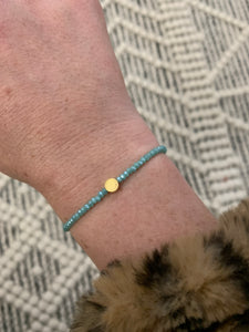 DIY stretch crystal and beaded bracelet