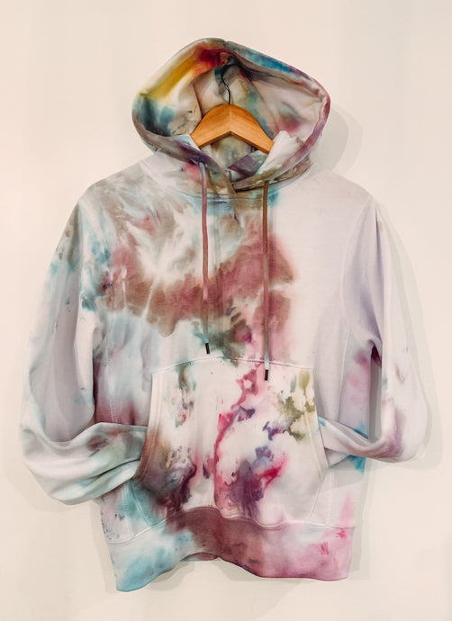 Ice Dyed Multi-Colored Boyfriend Hoodie