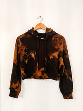 Load image into Gallery viewer, Reverse Dyed Crop Hoodie