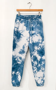 Shibori Indigo Dyed 90's Sweatpants