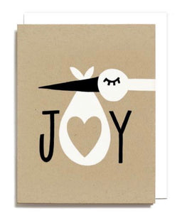 Joy Stork Greeting Card