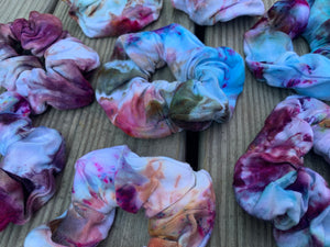 Ice Dyed Multi-Color Scrunchies