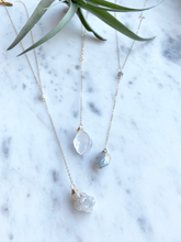 Load image into Gallery viewer, Raw Crystal Y Necklace