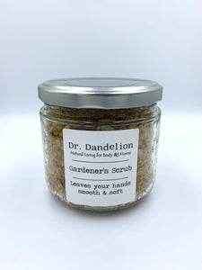 Gardener's scrub for exfoliating hands and feet