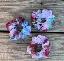 Load image into Gallery viewer, Ice Dyed Multi-Color Scrunchies