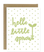 Load image into Gallery viewer, Hello Little Sprout Greeting Card