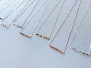 Mixed Metal Layering Bar Necklace