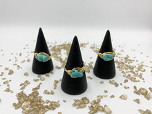 Load image into Gallery viewer, Turquoise Nugget Wire Wrapped Ring