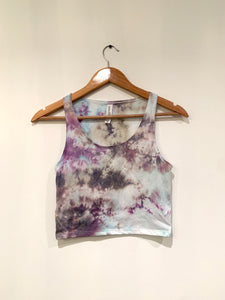 Ice Dyed Multi-Colored Crop Tank