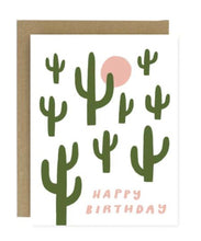 Load image into Gallery viewer, Happy Birthday Cactus Greeting Card