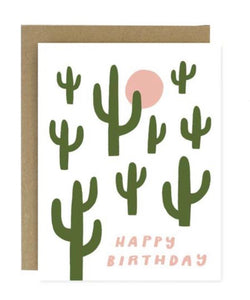 Happy Birthday Cactus Greeting Card