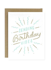 Sending Birthday Vibes Greeting Card