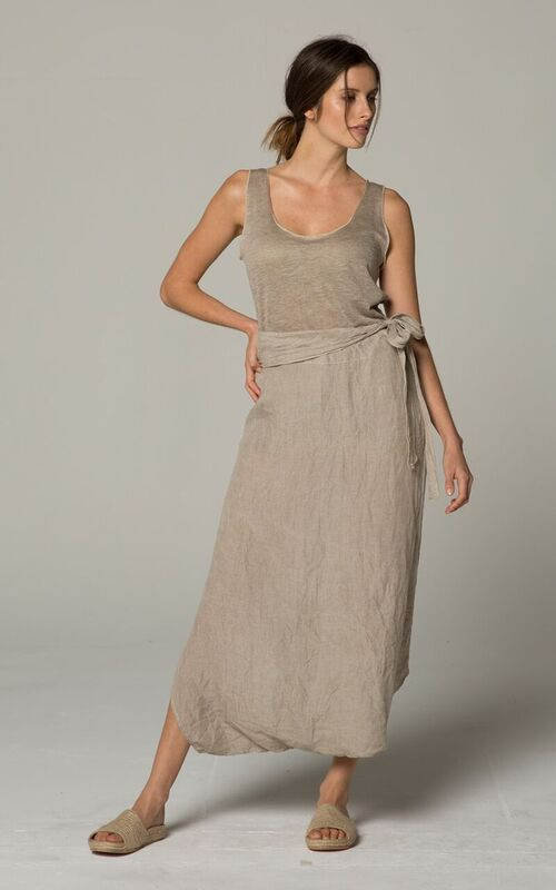 natural linen pants skirt
