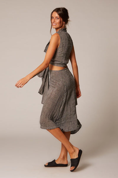 Annex Linen Skirt | Pepper