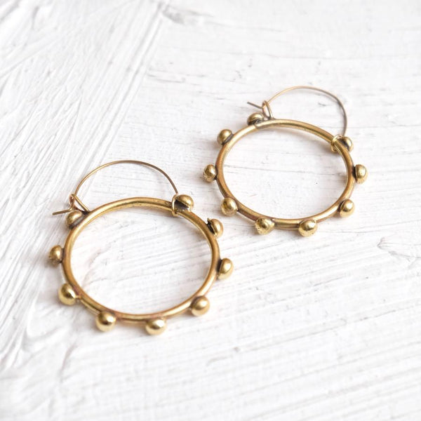 Hebba Brass Hoop Earrings