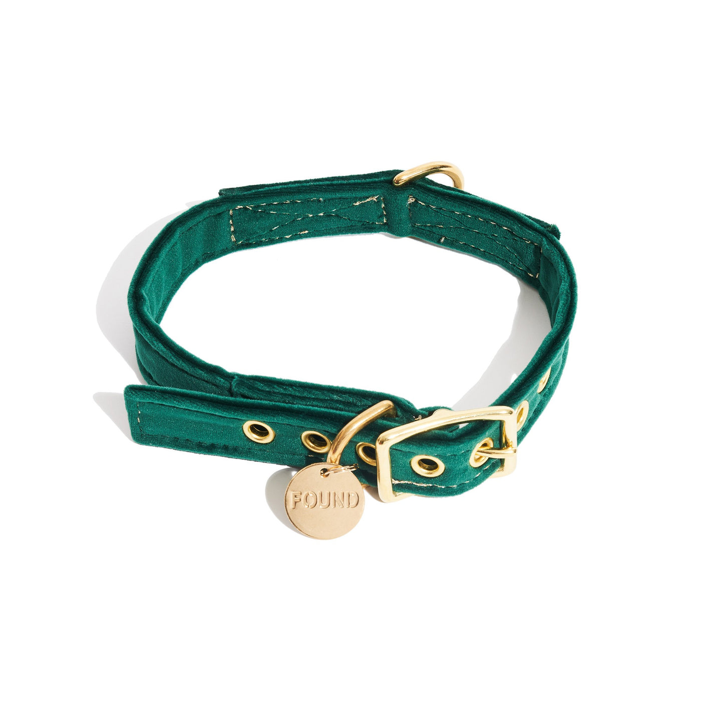 Emerald Washable Velvet Cat and Dog Collar - Large, Small, Medium