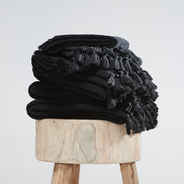 Organic Bath Towel in Black