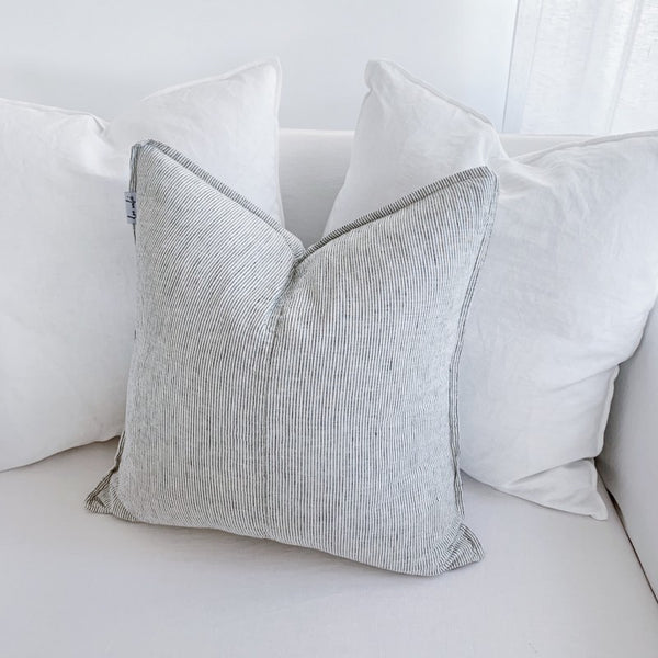 Linen Scatter Cushion Covers in PIN STRIPE - Set of 2